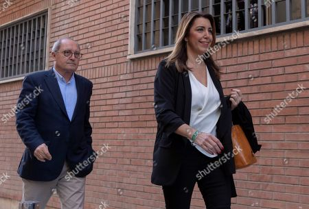 Acting Andalusian regional President Susana Diaz (R), candidate for re-election of Spanish Socialist Party PSOE-A and party's Organization Secretary Juan Cornejo arrive in the party's headquarters in Seville, Andalusia, southern Spain, 03 December 2018, a day after the Andalusian regional election. Diaz won the election but it did not gain the absolute majority. It is possible that Diaz does not get enough support to be re-elected as regional President, which might mean that, for the first time, a Socialist Party's candidate won't run the region since the first regional election was held in Andalusia in 1982.