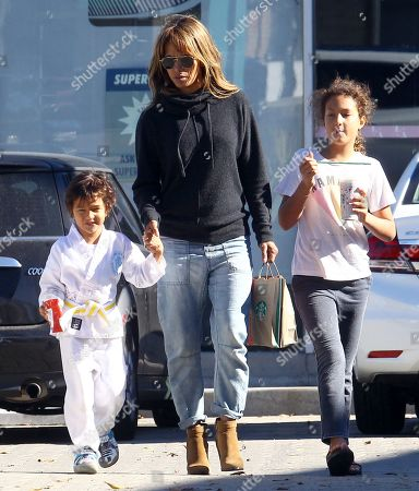 Stock Image of Maceo Martinez, Halle Berry and Nahla Aubry