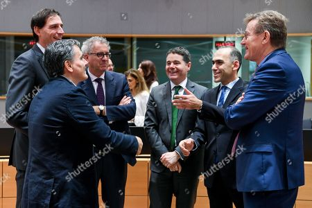 Editorial picture of Eurogroup Finance Ministers Meeting, Brussels, Belgium - 03 Dec 2018