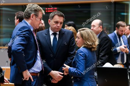 Editorial image of Eurogroup Finance Ministers Meeting, Brussels, Belgium - 03 Dec 2018