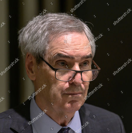 President and Rector of Central European University (CEU) Michael Ignatieff looks on during a press conference held about the future of CEU in Budapest, Hungary, 03 December 2018. Leaders of the institute announced that it will launch all US-accredited degree programs in Vienna in September 2019.