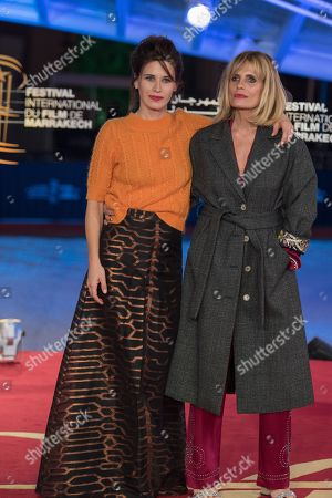 Valentina Cervi (L) and Isabella Ferrari attend the premiere of 'Roma' during the 17th Marrakech International Film Festival, in Marrakesh, Morocco, 03 December 2018. The festival runs from 30 November to 08 December.