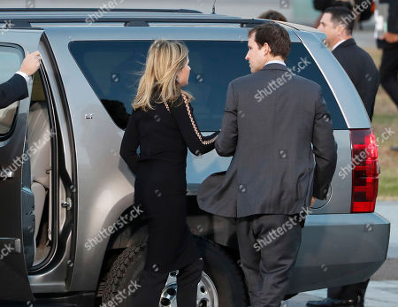 Stock Photo of Jenna Bush Hager (L) and her husband Henry Chase Hager (R) arrive for the State Funeral for her grandfather, former United States President George H.W. Bush, at the US Capitol in Washington, DC, USA, 03 December 2018. Bush, the 41st President of the United States (19891993), died in his Houston, Texas, USA, home surrounded by family and friends on 03 November 2018. The body will Lie in State in the Capitol before being moved to the Washington National Cathedral for a funeral service. It will then return to Houston for another funeral service before being transported by train to the George Push Presidential Library and Museum for internment.