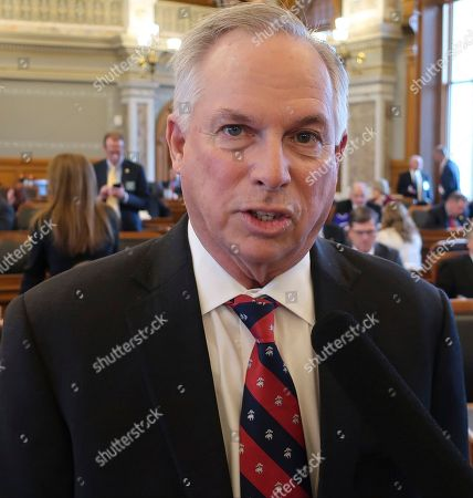 Departing Kansas House Majority Leader Don Hineman, R-Dighton, answers questions from reporters following an organizational meeting for the House, at the Statehouse in Topeka, Kan. Hineman is a moderate and lost his leadership job to conservative Rep. Dan Hawkins, R-Wichita