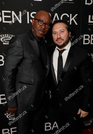 Courtney B Vance and Teddy Schwarzman attend the New York premiere of BEN IS BACK