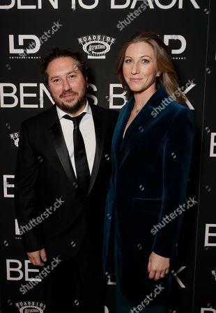 Teddy Schwarzman and Ellen Marie Zajac attend the New York premiere of BEN IS BACK