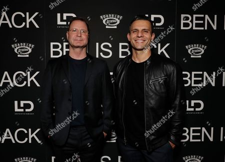 Mickey Liddell and Pete Shilaimon attend the New York premiere of BEN IS BACK