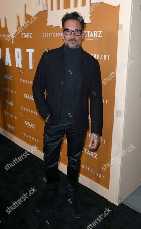 Lawrence Zarian attends the STARZ Counterpart Season 2 Premiere at the Arclight Hollywood on in Los Angeles