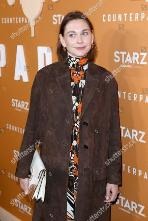 Christiane Paul attends the STARZ Counterpart Season 2 Premiere at the Arclight Hollywood on in Los Angeles