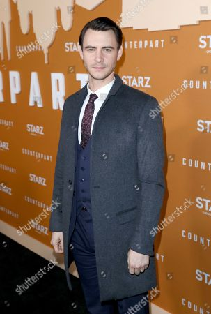 Harry Lloyd attends the STARZ Counterpart Season 2 Premiere at the Arclight Hollywood on in Los Angeles