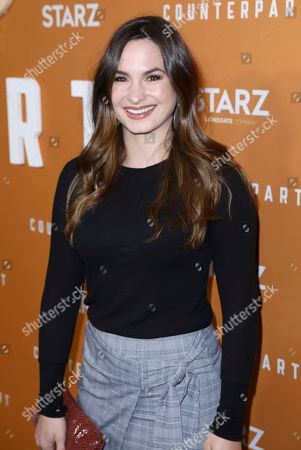 Stock Image of Sarah Bellini attends the STARZ Counterpart Season 2 Premiere at the Arclight Hollywood on in Los Angeles