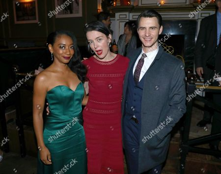 Betty Gabriel, Olivia Williams, Harry Lloyd. Betty Gabriel, from left, Olivia Williams and Harry Lloyd attend the STARZ Counterpart Season 2 Premiere afterparty at Warwick Bar on in Los Angeles