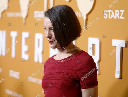Olivia Williams attends the STARZ Counterpart Season 2 Premiere at the Arclight Hollywood on in Los Angeles