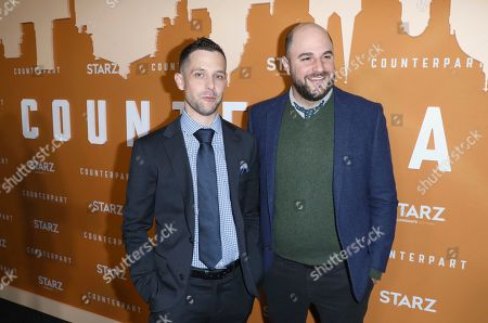 Justin Marks, Jordan Horowitz. Justin Marks, left, and Jordan Horowitz attend the STARZ Counterpart Season 2 Premiere at the Arclight Hollywood on in Los Angeles