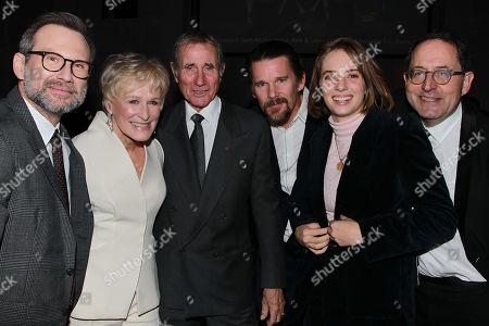 Christian Slater, Glenn Close, Jim Dale, Ethan Hawke, Maya Thurman Hawke and Michael Barker