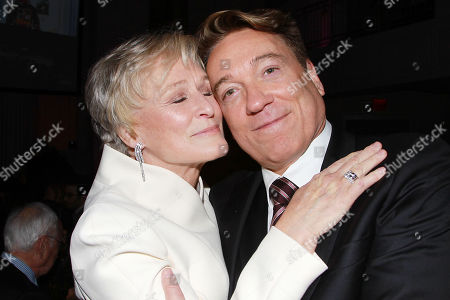 Stock Picture of Glenn Close and Kevin Huvane