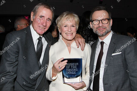 Stock Image of Jim Dale, Glenn Close and Christian Slater