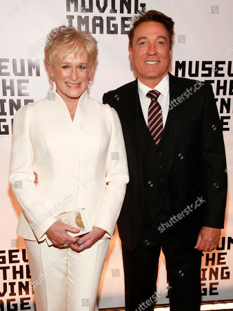 Stock Image of Glenn Close, Kevin Huvane. Glenn Close, left, and Kevin Huvane, right, attend the Museum of the Moving Image Salute to Glenn Close at 583 Park, in New York