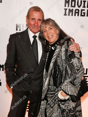 Jim Dale, Julia Schafler. Jim Dale, left, Julia Schafler, right, attend the Museum of the Moving Image Salute to Glenn Close at 583 Park, in New York