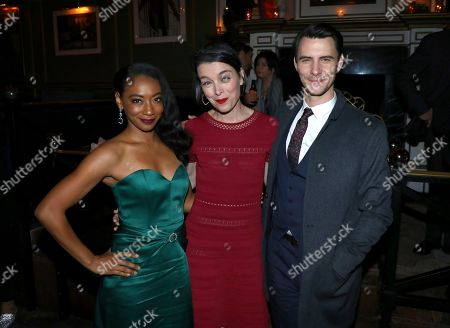 Betty Gabriel, Olivia Williams, Harry Lloyd. IMAGE DISTRIBUTED FOR STARZ ENTERTAINMENT LLC - Betty Gabriel, from left, Olivia Williams and Harry Lloyd attend the STARZ Counterpart Season 2 Premiere afterparty at Warwick Bar on in Los Angeles