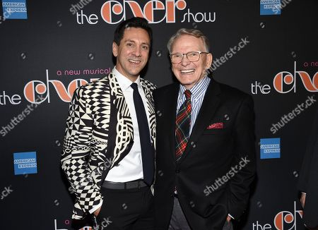 """Stock Image of Michael Berresse, Bob Mackie. Actor Michael Berresse, left, and designer Bob Mackie pose together at """"The Cher Show"""" Broadway musical opening night after party at Pier Sixty, in New York"""