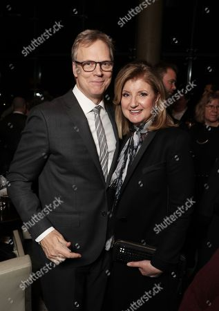 Peter Hedges and Arianna Huffington attends the after party for the New York premiere of BEN IS BACK