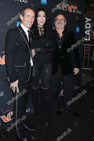 Stock Picture of Jeffrey Seller, Cher, and Flody Suarez