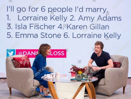 Lorraine Kelly and Daniel Sloss