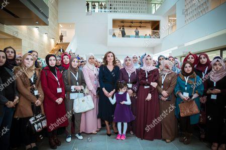 Queen Rania visits the Queen Rania Teacher Academy, Amman
