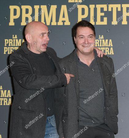 The director Rolando Ravello, Corrado Guzzanti