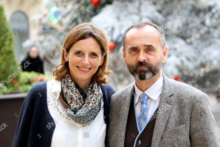 Robert Menard, Mayor of Beziers and wife Emmanuelle Menard