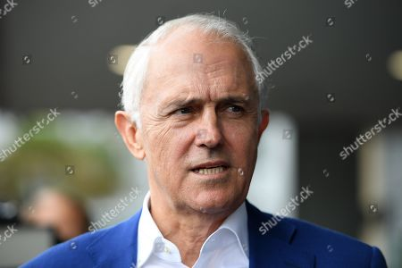 Former prime minister Malcolm Turnbull speaks to media after delivering an address at the NSW Smart Energy Summit in Sydney, New South Wales (NSW), Australia, 04 December 2018.