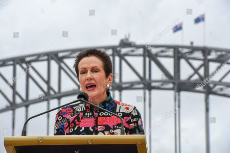 Lord Mayor of Sydney Clover Moore speaks at the launch of the City of Sydney's New Year's Eve celebrations at the Sydney Opera House in Sydney, New South Wales, Australia, 04 December 2018. This year's New Year's Eve fireworks display in Sydney will feature an animation of famous Australian landscapes on the Harbour Bridge.