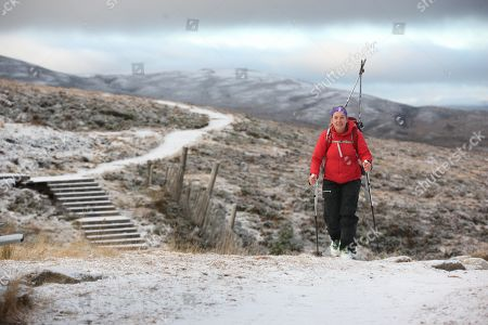 Amanda Shepherd who was going Ski Touring( a mix of hill walking and off piste skiing) at Cairngorm mountain in the Highlands where the temperature was forecast to fall to -8C tonight