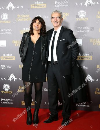 Raymond Domenech and wife Estelle Denis