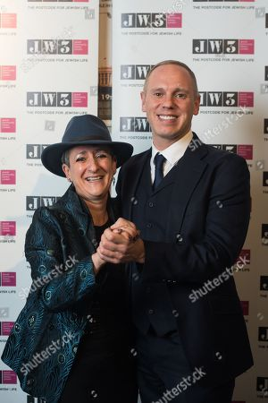 Stock Picture of Rabbi Laura Janner-Klausner and Rob Rinder.