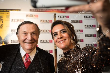 Barry Humphries and Samantha Simmonds.