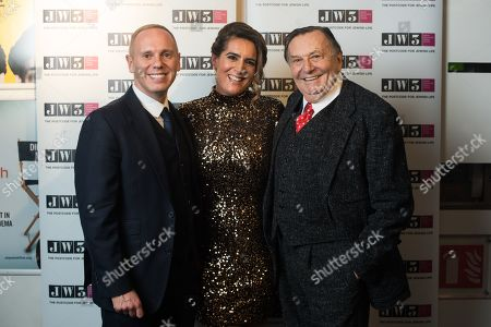 Rob Rinder, Samantha Simmonds and Barry Humphries.