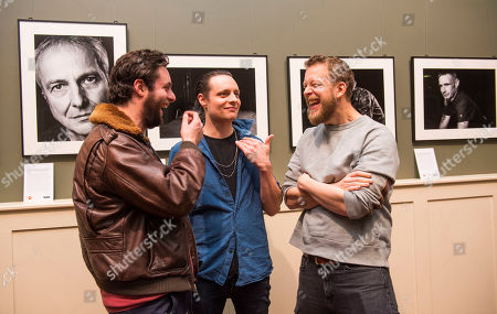 Stock Picture of Felix and Hugo White, of the band the Maccabees and Mumford and Sons bassist Ted Dwane (right) attend 'The MS Connection', a photography exhibition that explores the impact of loneliness and isolation on people living with MS. Created by photographer Louis Browne @WMA, Ted Dwane of Mumford & Sons and the MS Society.