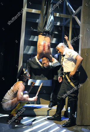 'The Drunks' - Charles Aitken (The Gimp), Richard Katz (Sergey) and Darrell D'Silva  (Kotomtsev)
