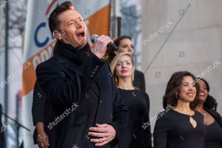 "Hugh Jackman performs on NBC's ""Today"" show at Rockefeller Plaza, in New York"