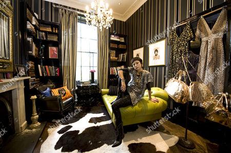 Editorial photo of Fashion Designer Sara Berman at home, London, Britain - 11 May 2009