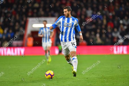 Ramadan Sobhi (14) of Huddersfield Town during the Premier League match between Bournemouth and Huddersfield Town at the Vitality Stadium, Bournemouth