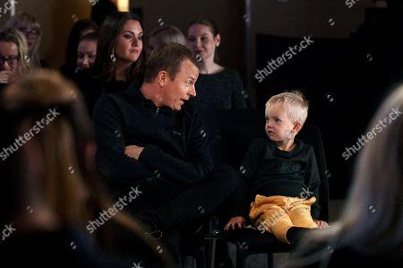 Finnish Formula One driver Kimi Raikkonen and son Robin Räikkönen