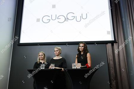 Founders of children's clothing brand Gugguu Miia Riekki and Anne Valli and Minttu Virtanen
