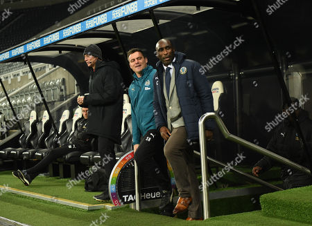 Sol Campbell (right) manager of Macclesfield Town comes out from the tunnel to take charge of his first game with Steve Harper