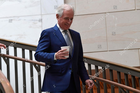 Sen. Bob Corker, R-Tenn., arrives for a closed-door meeting on Capitol Hill in Washington, on the slaying of Saudi journalist Jamal Khashoggi