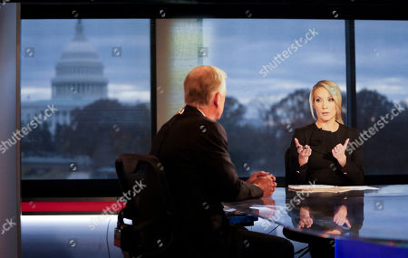 Dan Quayle, Dana Perino. Fox News contributor and Host of the Daily Briefing, Dana Perino, right, interviewing former Vice President Dan Quayle, left, at Fox Studios in Washington