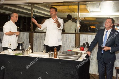 French Tennis Legend Henri Leconte, Lord Brockett and chef Barry Vera attend an evening re-creating his Masterchef Semi-final experience and raise funds for StreetGames, a charity supporting sports participation for disadvantaged communities.
