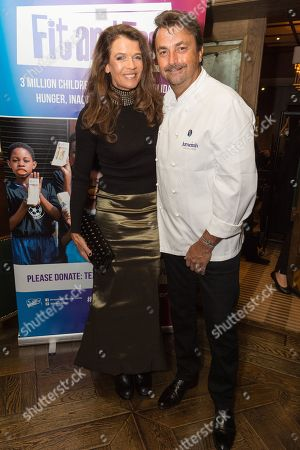 British tennis players Annabel Croft and French Tennis Legend Henri Leconte attend an evening re-creating his Masterchef Semi-final experience and raise funds for StreetGames, a charity supporting sports participation for disadvantaged communities.